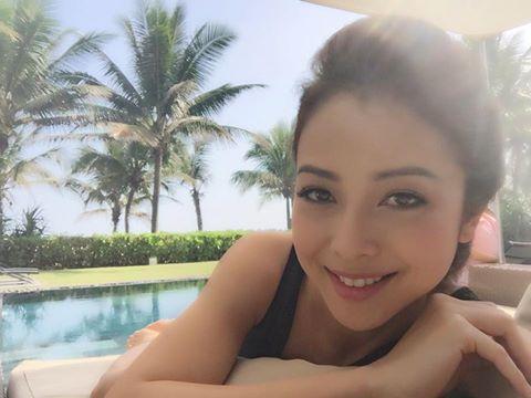 Jennifer Pham xinh tuoi sau tin don truc trac voi chong
