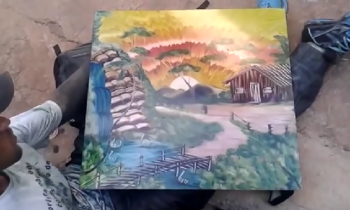 Ve tranh bang tay khong tuyet dinh hut hang trieu nguoi xem