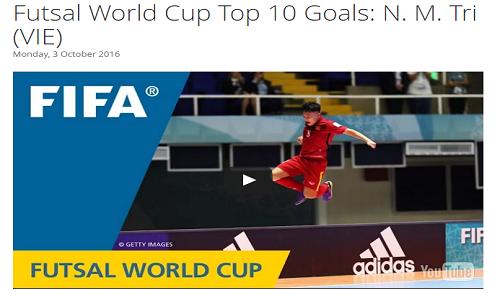 Tuyen thu Futsal Viet Nam duoc FIFA vinh danh
