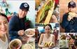 Chân Tử Đan cùng vợ hoa hậu ăn bánh mỳ ở Hội An