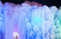 Hình ảnh kỳ vĩ thác nước đóng băng ở Trung Quốc