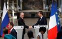 Loạt ảnh ấn tượng cuộc gặp Tổng thống Putin-Macron