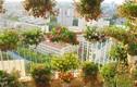 Mẹ Việt biến ban công 15m2 thành vườn hoa như cổ tích