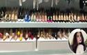 Choáng váng nhìn tủ giày tiền tỷ Ngọc Trinh vừa quay video để khoe