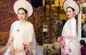 Á hậu Tú Anh đẹp rạng rỡ trong trang phục áo dài