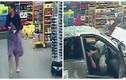 Đang mua sắm trong siêu thị bị ôtô điên đâm nát