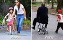 Ảnh hài hước sự khác biệt giữa bố và mẹ khi chăm con