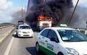 """Xe container """"tự thiêu"""" trên cầu Bãi Cháy"""