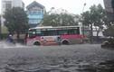 Ảnh: Hải Phòng chìm trong nước, trời tối sầm vì mưa lớn
