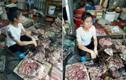 Tranh cãi vụ người bán phá giá thịt lợn bị ném chất bẩn ở Hải Phòng