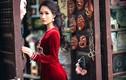 HH quý bà Sương Đặng kiêu kỳ với áo dài nhung đỏ