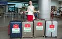 Hà Thu mang theo 10 kiện hành lý đến Philippines thi Miss Earth