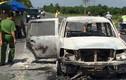Manh mối phá án đốt xe giám đốc từ chiếc điện thoại cháy đen
