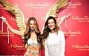 Thiên thần Victoria's Secret tươi cười bên tượng sáp xấu xí