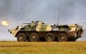 Kinh dị: Xe thiết giáp BTR-80 Nga bị bắn bay tháp pháo