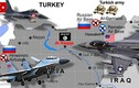 """Mỹ-Nga-Thổ Nhĩ Kỳ """"hội quân"""" ở trong và xung quanh Syria"""