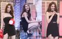 Ngọc Trinh diện váy ngắn lấn át Hương Giang Idol