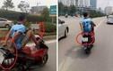 Công an tìm ra người đi xe máy bằng chân trên đường Hà Nội