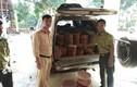 CSGT tóm gọn xe tải chở hơn 500 thớt gỗ nghiến đáng ngờ
