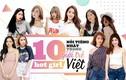 """Top 10 hot girl Việt có lượng fan """"khủng"""" nhất trong giới trẻ"""