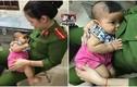 Xúc động nữ thiếu úy công an cho bé bị bỏ rơi bú