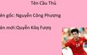 Tên cầu thủ Việt ra sao nếu viết theo bảng chữ cái mới?