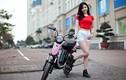 Hot girl Thanh Bi đọ cá tính bên xe điện Anbico Bat-X