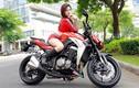 Chân dài Việt đọ cá tính cùng xe môtô Kawaaki Z1000