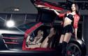 Siêu xe Mercedes SLS AMG hơn 12 tỷ đọ dáng chân dài