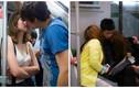 """""""Chộp"""" khoảnh khắc các cặp đôi hôn nhau đắm đuối trên tàu"""