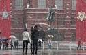 Ảnh: Moscow mù tuyết, ảnh hưởng đến lễ duyệt binh