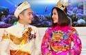 Cận trang phục cưới của vợ chồng diễn viên Vân Trang
