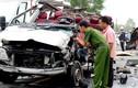 Hiện trường 2 xe khách tông nhau trực diện ở Tây Ninh