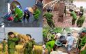 Những hình ảnh xúc động lòng người của các chiến sĩ CAND