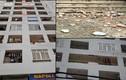 Hoảng hồn mảng tường lớn từ tầng 7 chung cư bất ngờ rơi