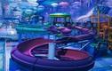 """Nhà thi đấu cũ kỹ hóa """"đại dương"""" đẹp ảo diệu như hành tinh khác"""
