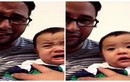 Dễ thương clip em bé khóc, nín theo bố