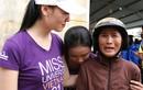 Thí sinh Hoa hậu Hoàn vũ VN đi từ thiện ở Khánh Hoà sau bão