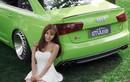 """Hot girl khoe dáng chuẩn bên """"táo xanh"""" Audi A6L"""