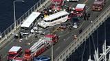 Cảnh xe buýt chở 29 sinh viên Việt gặp nạn ở Mỹ