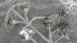 Ảnh vệ tinh chụp căn cứ không quân Syria bị Mỹ phá hủy