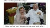 Đám cưới đầu của cô dâu 80 tuổi, chú rể 95 tuổi
