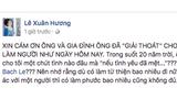 """Sau khi """"tố"""" MC Thanh Bạch, Xuân Hương bất ngờ làm điều này"""