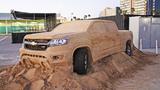 Ngắm Chevrolet Colorado 2015 bằng cát độc nhất thế giới