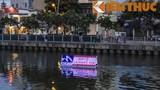 Cảnh sát đuổi theo người vừa bơi vừa hét ở kênh Nhiêu Lộc