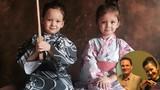 Cặp song sinh nhà Hồng Nhung diện kimono cực đáng yêu
