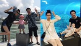 Trang Nhung khoe ảnh hạnh phúc bên chồng con ở Singapore