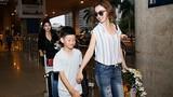 HH Jennifer Phạm ra sân bay đón con trai về Việt Nam
