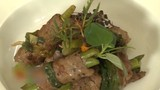 Hương nhu nướng thịt bò - món ngon bổ dưỡng sức khỏe