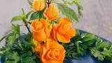 Hướng dẫn 3 cách cắt tỉa hoa hồng từ cà rốt tuyệt đẹp